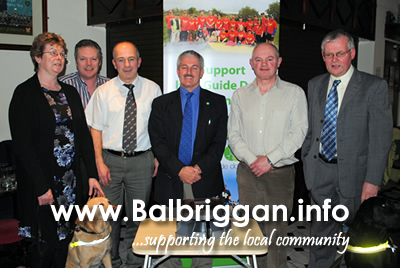 Breege O'Neill, Eamonn Deegan, Aidan Smith - Chairman, Sean McCormack, Tommie Nugent, Tom O'Neill with Unice & Gatsby in front