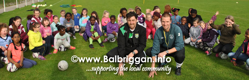 Donal Richardson, Chairman of Glebe North FC and Paul Keogh from the FAI with some of the attendees on the night