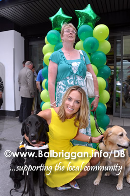 Guide Dog Owner Breege O'Neill and Catherine Thomas at the launch