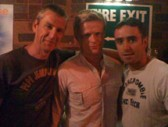 Sean and Wayne with Damien Duff in McPhails on Saturday 5th June