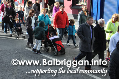 Cllr Tony Murphy at the Balbriggan Water Charges Protest on 25th October